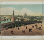 Benoist, Philippe - View of the Cathedral of Christ the Saviour and the Moscow Kremlin (from a panoramic view of Moscow in 10 parts)