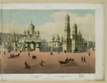 Benoist, Philippe - The Cathedral Square in the Moscow Kremlin (from a panoramic view of Moscow in 10 parts)