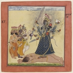 Anonymous - Goddess Bhadrakali Worshipped by the Gods (from a tantric Devi series)