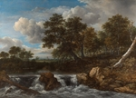 Ruisdael, Jacob Isaacksz, van - Landscape with Waterfall