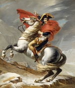 David, Jacques Louis - Bonaparte Crossing the Grand Saint-Bernard Pass, 20 May 1800