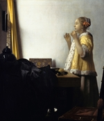 Vermeer, Jan (Johannes) - Young Woman with a Pearl Necklace