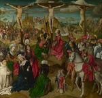 Master of Delft - The Crucifixion (Triptych: Scenes from the Passion of Christ, central Panel)