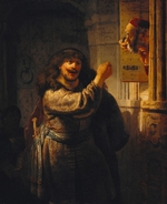 Rembrandt van Rhijn - Samson threatened his father-in-law