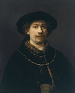 Rembrandt van Rhijn - Self Portrait with Beret and Two Gold Chains
