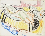 Kirchner, Ernst Ludwig - Love couple in studio (Two Nudes)