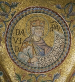 Byzantine Master - King David (Detail of Interior Mosaics in the St. Mark's Basilica)