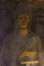 Anonymous - Saint Francis of Assisi (Detail of his oldest portrait)