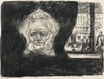 Munch, Edvard - Henrik Ibsen at Café of the Grand Hotel