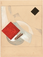 Lissitzky, El - Study (for the Story of Two Quadrats)