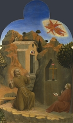 Sassetta - The Stigmatisation of Saint Francis (From Borgo del Santo Sepolcro Altarpiece)