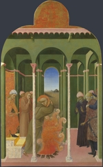Sassetta - Saint Francis before the Sultan (From Borgo del Santo Sepolcro Altarpiece)