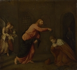 Bordone, Paris - Christ baptising Saint John the Martyr of Alexandria
