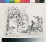 Tiepolo, Giambattista - The visit at the death. From the Series ''Capriccios''