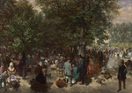 Menzel, Adolph Friedrich, von - Afternoon in the Tuileries Gardens