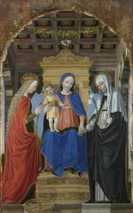 Bergognone, Ambrogio - The Virgin and Child with Saint Catherine of Alexandria and Saint Catherine of Siena