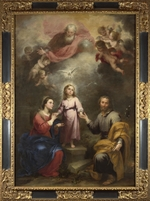 Murillo, Bartolomé Estebàn - The Heavenly and Earthly Trinities (The Pedroso Murillo)