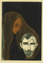 Munch, Edvard - Man's Head in Woman's Hair