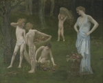 Puvis de Chavannes, Pierre Cécil - Children in an Orchard