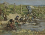 Boudin, Eugène-Louis - Laundresses by a Stream