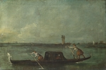Guardi, Francesco - A Gondola on the Lagoon near Mestre