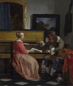 Metsu, Gabriel - A Man and a Woman seated by a Virginal