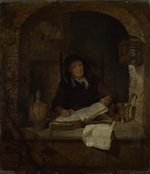 Metsu, Gabriel - An Old Woman with a Book