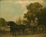 Stubbs, George - A Gentleman driving a Lady in a Phaeton