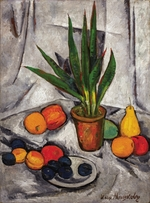 Mashkov, Ilya Ivanovich - Still Life with Plant and Fruit