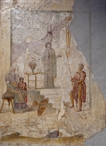 Roman-Pompeian wall painting - Cassandra predicts the downfall of Troy