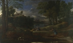 Poussin, Nicolas - Landscape with a Man killed by a Snake