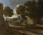 Poussin, Nicolas - Landscape with Travellers Resting