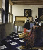 Vermeer, Jan (Johannes) - A Lady at the Virginal with a Gentleman (The Music Lesson)