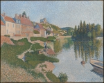 Signac, Paul - Les Andelys. The Riverbank