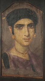 Fayum mummy portraits - Portrait of a Young Lady
