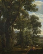 Lorrain, Claude - Landscape with a Goatherd and Goats