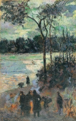 Gauguin, Paul Eugéne Henri - The Fire at the River Bank