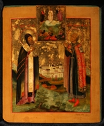 Russian icon - Saints Bishop Arsenius of Tver and Prince Michael of Tver