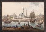 Hilair, Jean-Baptiste - The Yeni Cami and the Port of Istanbul. (French Ambassador Choiseul-Gouffier arrived in the Ottoman Empire)