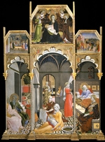 Sano di Pietro - The Birth of the Virgin (Scenes from the Life of the Virgin)