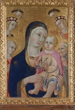 Sano di Pietro - Madonna with Child, Saints Apollonia and Bernardino and four angels