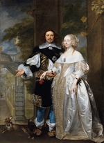Coques, Gonzales - Portrait of a Married Couple in the Park