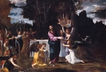 Carracci, Lodovico - Christ in the Wilderness, Served by Angels