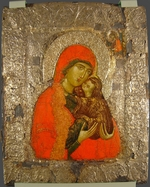 Byzantine icon - Saint Anne and Mary as child
