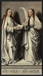 Master of Frankfurt - Saints Ottilia and Cecilia (Panel of the St Anne Altarpiece)