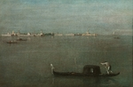 Guardi, Francesco - Gondolas on the Lagoon (Grey Lagoon)