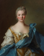 Nattier, Jean-Marc - Portrait of Madame de La Porte
