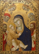 Sano di Pietro - Madonna and Child with Saints Jerome, John the Baptist, Bernardino and Bartholomew
