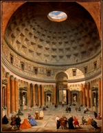 Pannini (Panini), Giovanni Paolo - Interior of the Pantheon, Rome