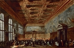 Guardi, Francesco - The Doge of Venice Giving Audience in the Sala del Collegio in the Doge's Palace